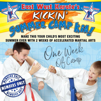 Kickin' Karate Summer Camp - One Week of Camp [EWK MEMBERS ONLY]
