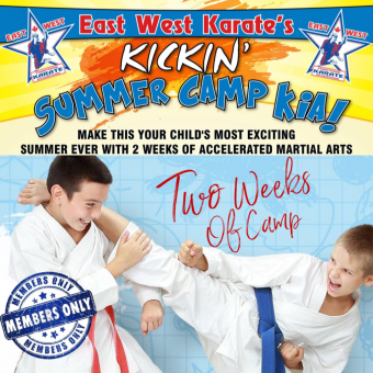Kickin' Karate Summer Camp – Two Weeks of Camp [EWK MEMBERS ONLY]