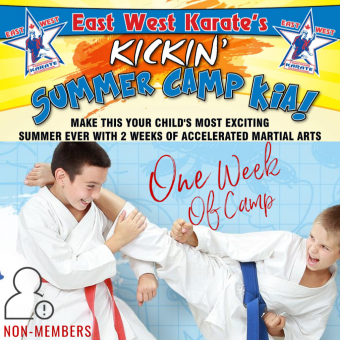 Kickin' Karate Summer Camp - One Week of Camp [NON- MEMBERS ONLY]
