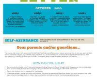 Parent/Guardian Newsletter | Kid Skill Sheet – October 2020