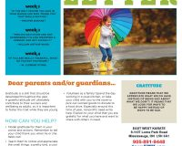 Parent/Guardian Newsletter | Kid Skill Sheet – November 2020